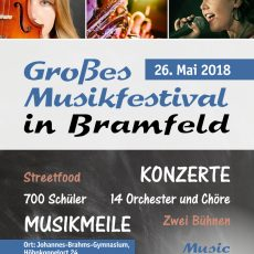 "Orchester auf Festival ""Music Meets School"" am 26.05."