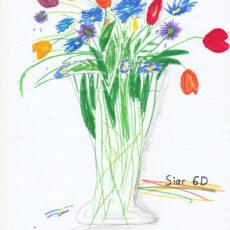 Kunst aus dem Homeoffice: Blumenstrauß nach Oskar Koller der Klassen 5-7