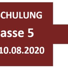 Einschulung der 5. Klassen am Montag, 10.08.2020