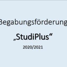 """""""StudiPlus"""" in Coronazeiten im Schuljahr 2020/21"""